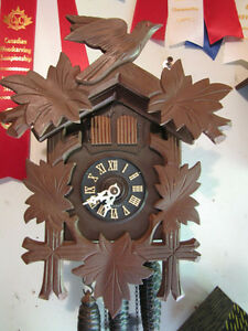 Musical cuckoo clock, just serviced, mint condition!