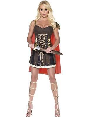 COSTUME GLADIATORE DONNA tg.S Carnevale Antico Romano Colosseo Romana 110 33258S