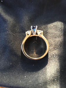 New Blue Saffire/Diamond engagement ring