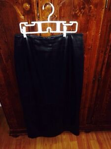 Black pleather full length skirt 10 petite