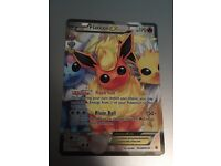 Flareon EX Pokémon trading card