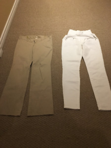 2 Pairs of Women's Maternity pants, Gap and Old Navy