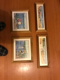 Set of 4 seaside pictures