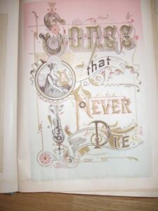 for sale - Vintage Book - Songs That Never Die