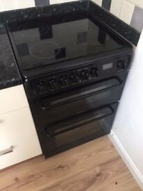 56 Hotpoint 60cm Double Oven Fan Oven 4 Ring Hob Electric Cooker 1 YEAR GUARANTEE FREE DEL N FIT