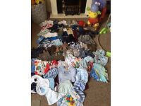 Massive baby boy bundle 0-12months with free brand new baby bath