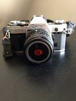 Mint Condition Canon AE-1 Camera with Macro and Auto-zoom lens