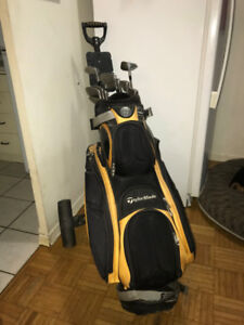 Full (left) golf set, trolley, bag, glove, balls PRICED TO SELL
