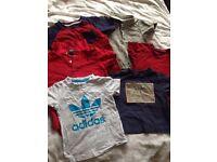 Boys t shirts x 6 bundle Ralpth Lauren Adidas