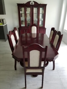 Great condition dinning set and double bed.