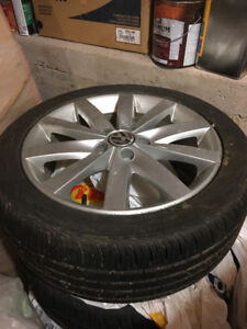 Tires on Alloy Rims: ContiProContact 225/45 R17