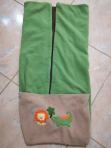 Thick winter sleep sack for crib AND attachable to carseats