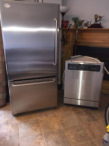 GE Profile Refrigerator Stainless Steel and Dish washer 750