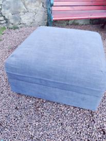 IKEA VALLENTULNA footstool/seating/storage in grey