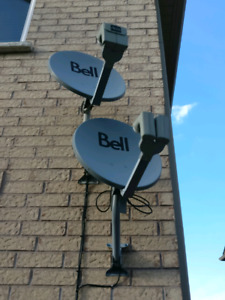 Bell Expressvu or Dish Network dual LNB satellite full assembly
