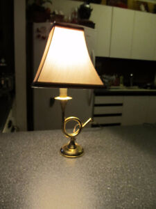 Solid brass table lamp.