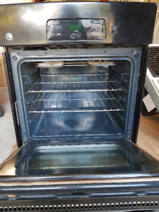 """GE Black on Black  27""""  Electric Manual-Clean Single Wall Oven"""