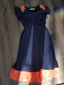 TWIK - Navy and Coral Dress - XS