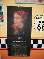 wow! 1958 Calendrier complet  ESSO pompe a essence gas garage
