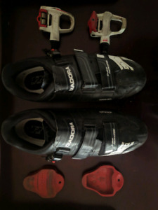 Diadora shoes + look keo max red and white + covers