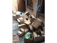 FREE - Large selection of cardboard boxes