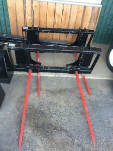 """49"""" Double Bale Spear with Standard Skidsteer Mount"""