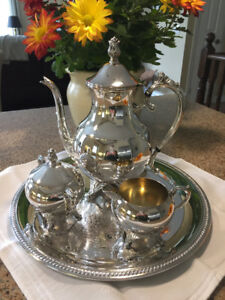 STUNNING ROGERS SILVER-PLATED COFFEE SERVICE