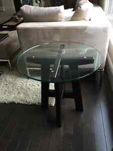 solid wood end table from Schreiters