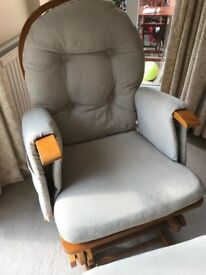 Habebe Nursing chair and matching foot stool