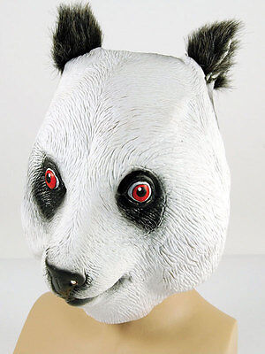 Full Rubber Latex Animal Panda Bear Mask Safari - Panda Bear Halloween Kostüm