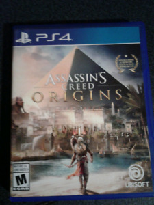 Assassins Creed Origins for ps4 Mint condition