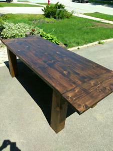 Custom made Harvest / Barn Dining table