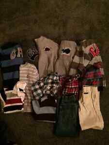 Lot of size 6 boys hoodies, dress shirts, sweaters and pants