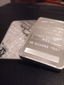 3 silver bars for sale