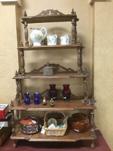 Walnut Displays Ornate Shelf. asking $105.00
