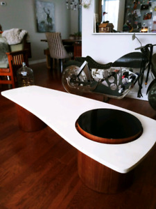 Deco wood coffee table