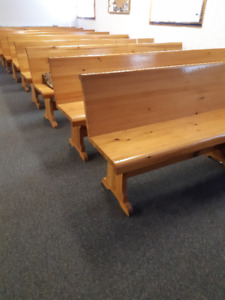 PINE Church pews for sale $125 each