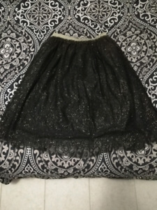 Forever 21 Plus Size black sparkle tulle skirt