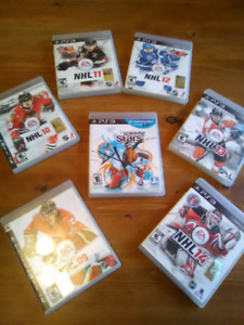 7 NHL games on ps3