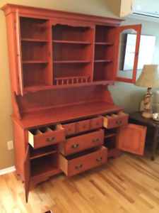 Solid red maple buffet and hutch