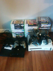 PS3 and Xbox 360 plus multiple games