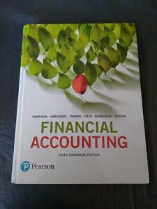 Textbook : Financial Accounting (Sixth Canadian edition)