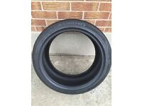 1 part worn Khumo 235/40/18 tyre **4.5-5.0mm**