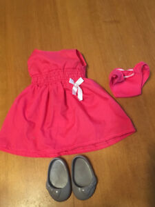 "18"" doll our generation girl pink dress outfit clothes"