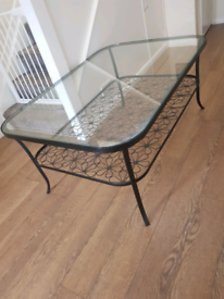 Large glass coffe table
