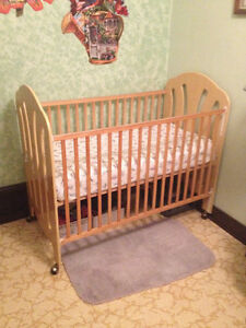 Crib and baby chair