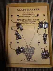 PEWTER WINE MARKERS - BIRTHDAY THEME