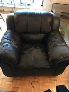 2 Leather Chairs for sale