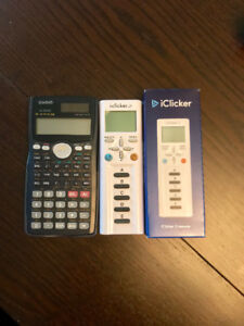 CASIO 99-1 and an iClicker2 for sale. ACC 100 required