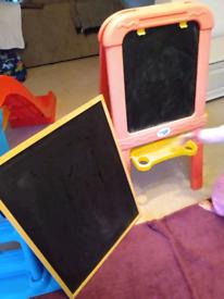 Easel and chalkboard